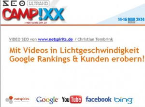 Christian Tembrinks Recap von der SEOcampixx