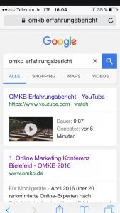 OMKB Erfahrungsbericht Screenshot