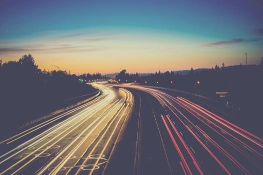 Traffic: Lichter auf der Autobahn