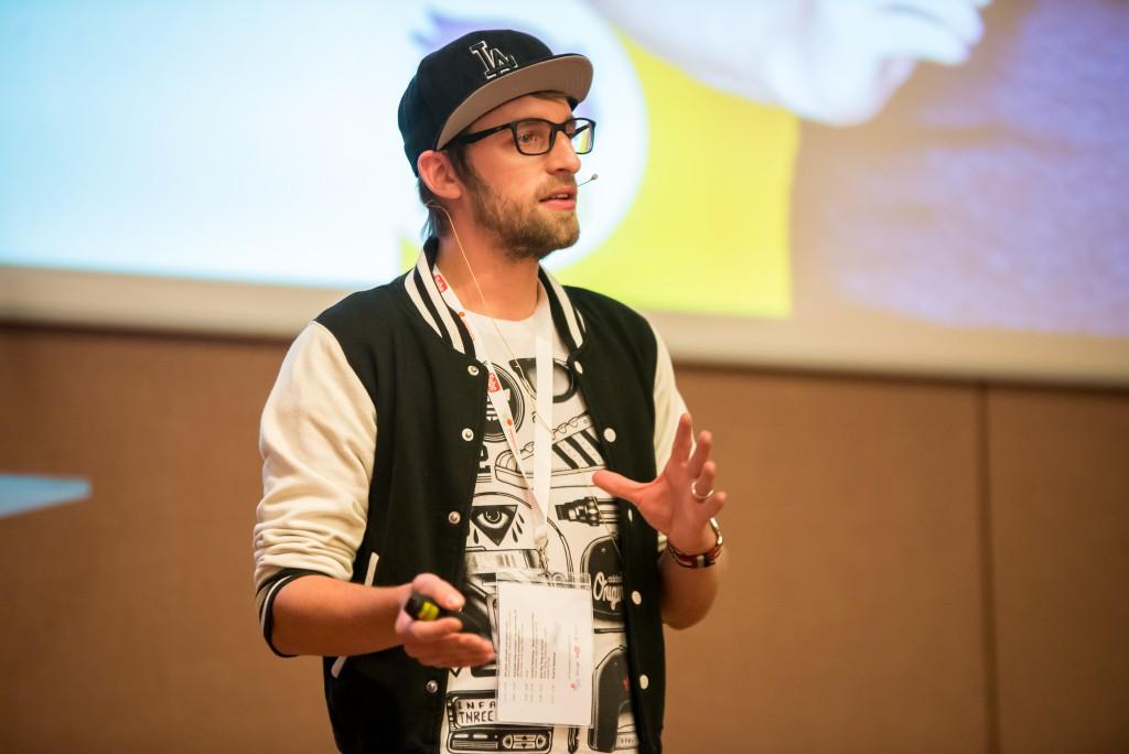 Moritz Schleiffelder von HeyMo Studio spricht über Videoproduktion auf der WebVideoCon 2016.