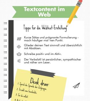 Infografik Texten fürs Web