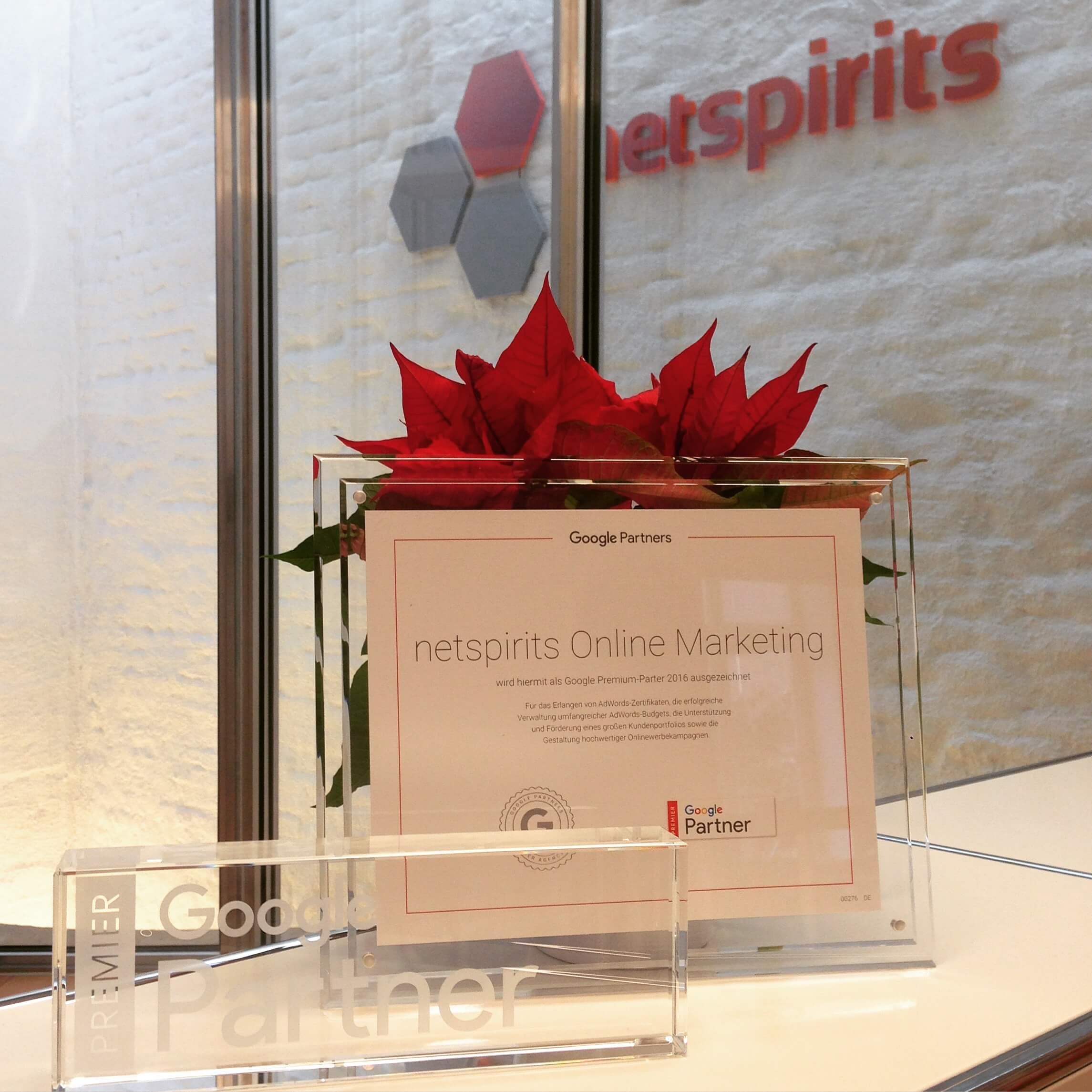 Auszeichnung Google Premium Partner