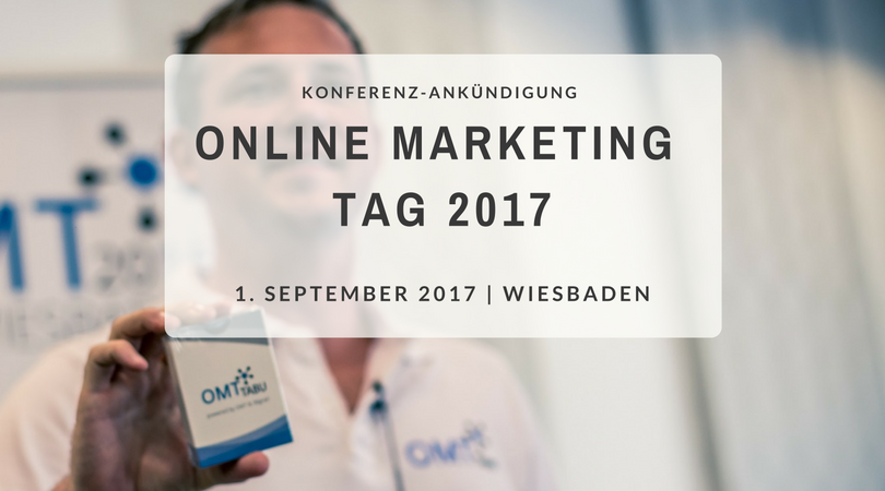 Save the date: Online Mar­ke­ting Tag 2017
