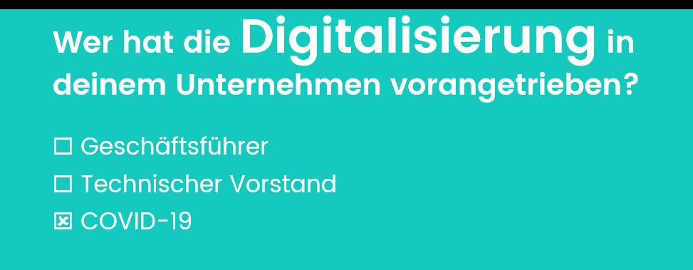 Frage: Wer hat die Digitalisierung in deinem Unternehmen vorangetrieben?