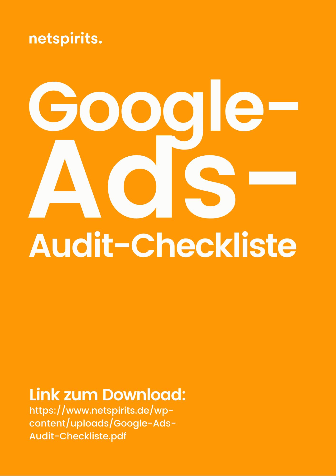 Checkliste für deinen Google-Ads-Audit