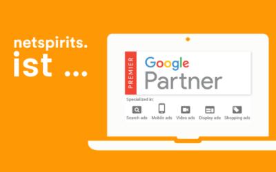 Auszeichnung für netspirits: Google Premium Partner
