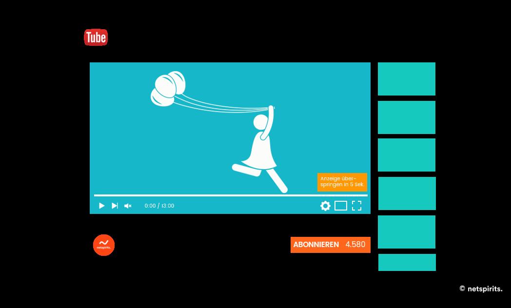 TrueView-In-Stream-Kampagne Desktop-Ansicht