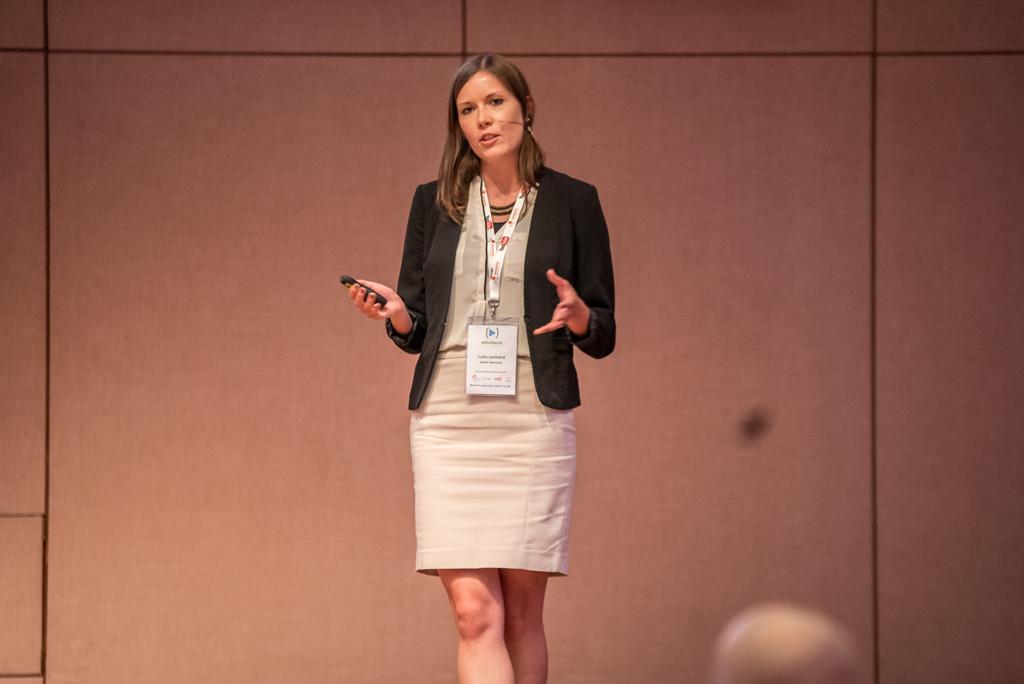 Julia Lenhard von LogMeIn bei der WebVideoCon 2017
