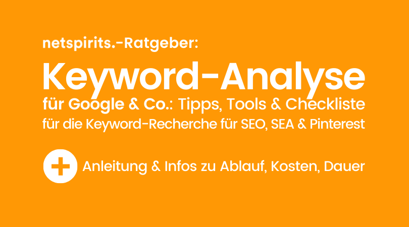 Keyword-Analyse für Google, Google Ads, YouTube & Pinterest