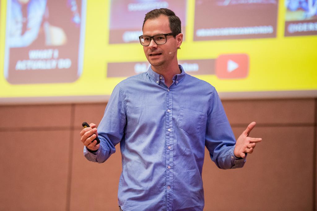 Martin Widenka von Thomas Cook bei der WebVideoCon 2017