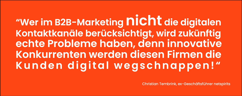 Ohne Online-Marketingkanäle geht heute nichts mehr.