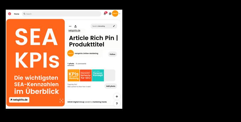 Anzahl der täglichen Speicherungen von Pins auf Pinterest