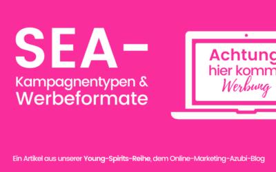 Kampagnentypen & Werbeformate der SEA-Welt