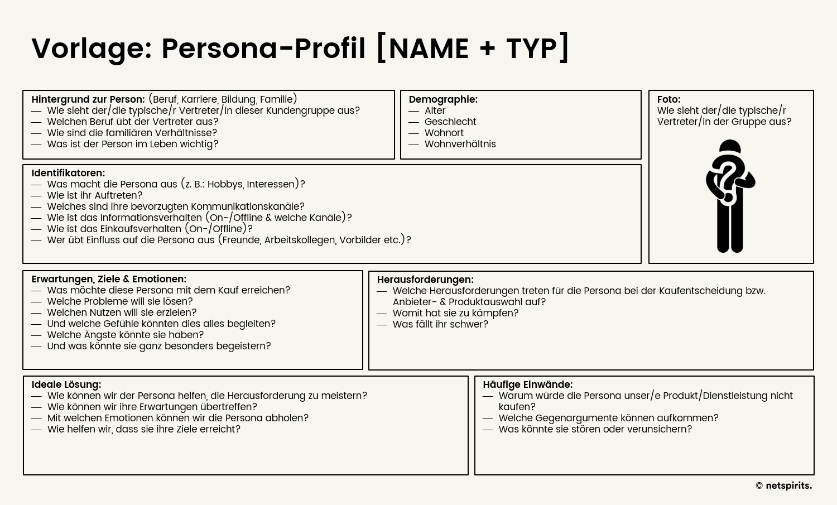 Vorlage Persona-Profil