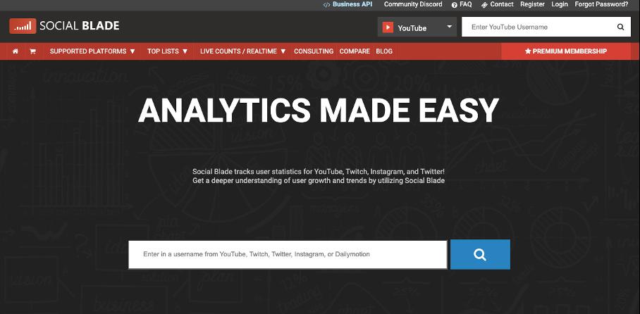 Tool für die Analyse der YouTube-Kanalabonnenten