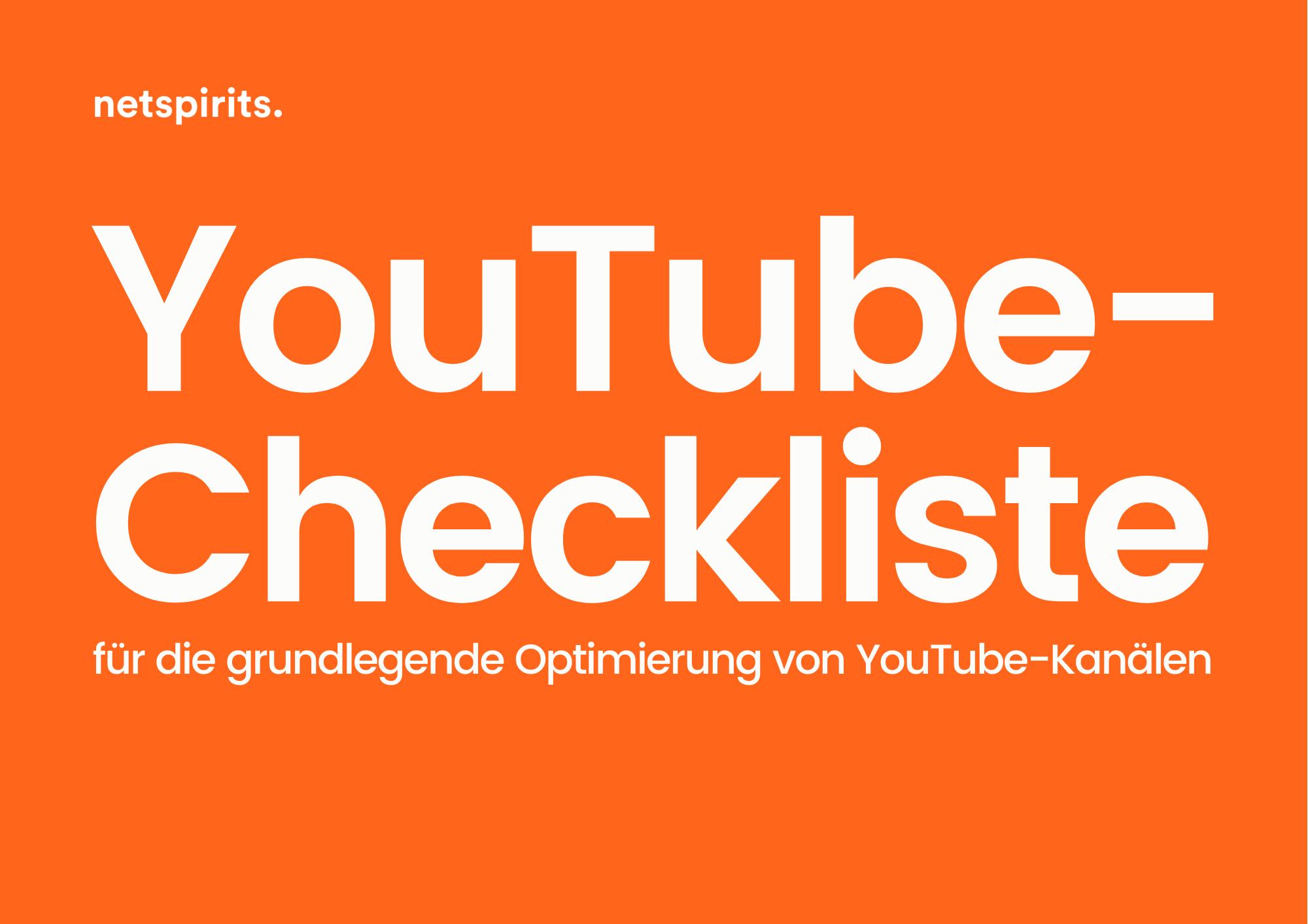 Checkliste für die YouTube-Kanalanalyse