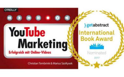 Preisverdächtig: Bekommt unser YouTube-Buch den International Book Award?