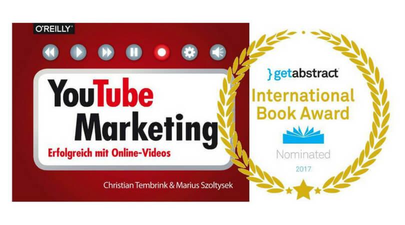 Preisverdächtig: Bekommt unser YouTube-Buch den International BookAward?