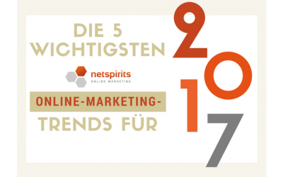 Unse­re Online-Mar­ke­ting-Trends für 2017