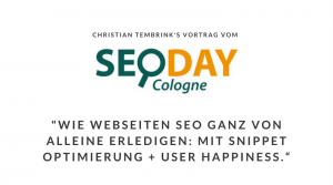 SEO-Day 2015 Christian Tembrink Vortrag