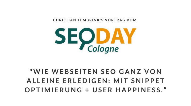 SEO-Day 2015 Präsentationen