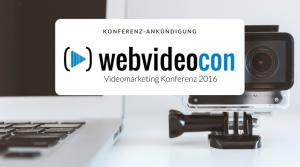WebVideoCon 2016 Ankuendigung