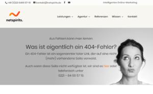 netspirits 404er-Seite