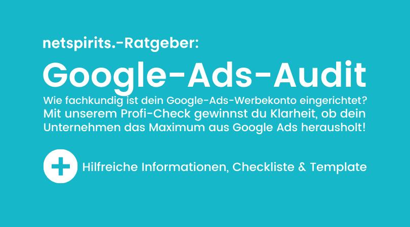 Google-Ads-Audit-Soforthilfe: Strategie prüfen & Potenziale aufdecken