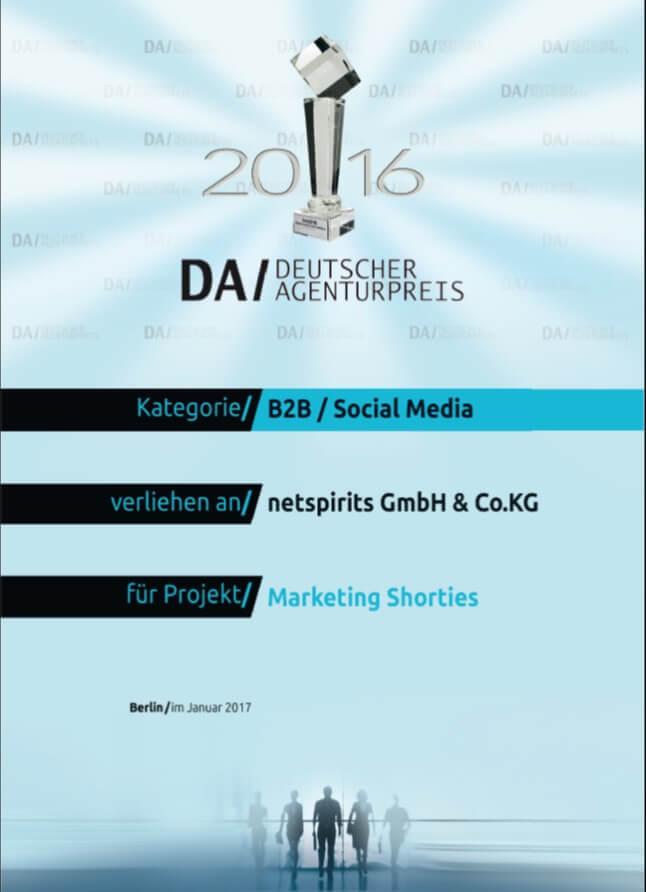 Sieger des Deutschen Agenturpreises 2016