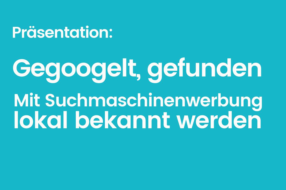 Einführung in lokale Suchmaschinenwerbung